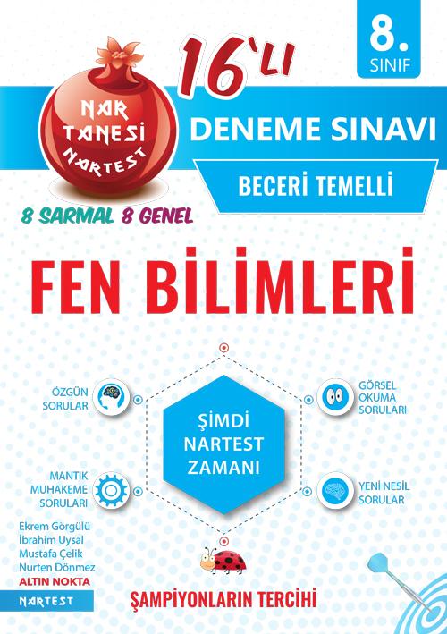 8. SINIF NAR TANESİ FEN BİLİMLERİ 16 DENEME SINAVI